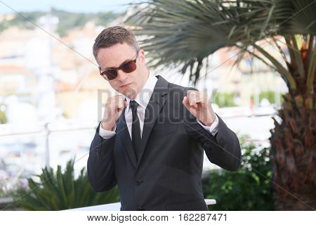 Nicolas Winding Refn attends the 'The Neon Demon' photocall during the 69th annual Cannes Film Festival at Palais des Festivals on May 20, 2016 in Cannes, France.