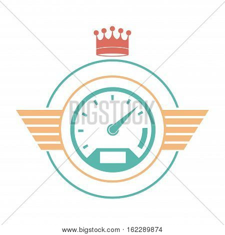 Car gauge icon. Car automobile transportation and vehicle theme. Isolated design. Vector illustration