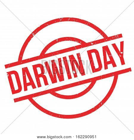 Darwin Day rubber stamp. Grunge design with dust scratches. Effects can be easily removed for a clean, crisp look. Color is easily changed.
