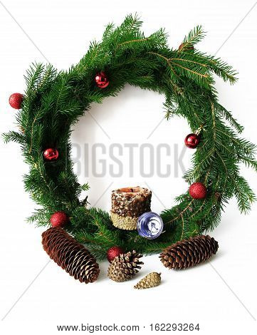 decoration items for Christmas and New Year holidays photo for micro-stock