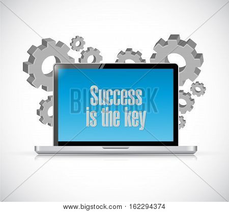 Success Is The Key Computer Sign Concept