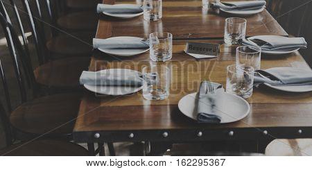 Indoors Banquet Tableware Event Concept