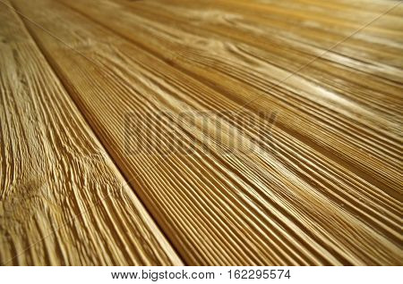 Old  Wooden Background. Desk in Perspective Diagonal Close Up, Striped Timber.