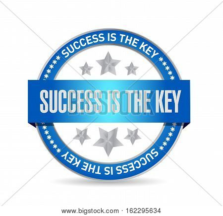 Success Is The Key Seal Sign Concept
