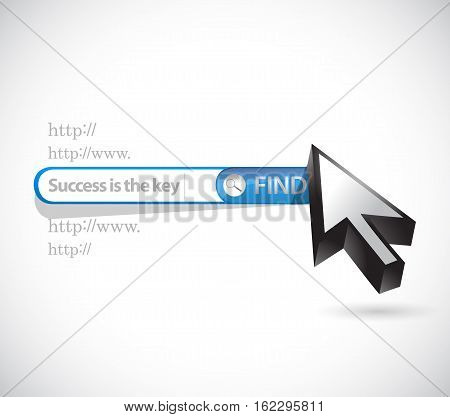 Success Is The Key Search Bar Sign Concept