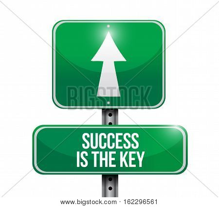 Success Is The Key Road Sign Concept