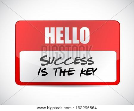 Success Is The Key Name Tag Sign Concept