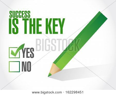 Success Is The Key Approval Sign Concept
