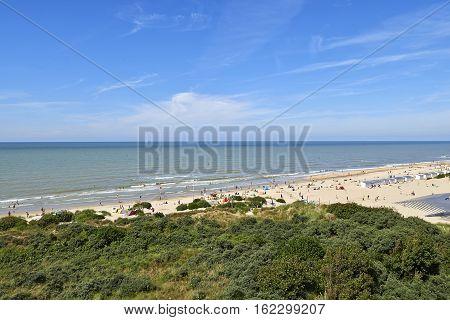Lot of people enjoy the Belgian Coast in Summer