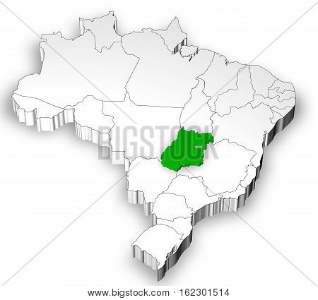 Brazilian Map With States Separated