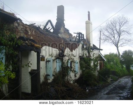 Thatched Cottage Fire Damaged