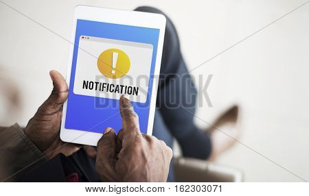 Notification Alert Exclamation Point Graphic Concept