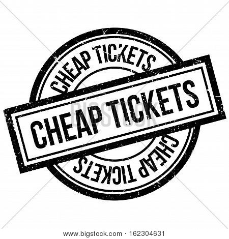 Cheap Tickets rubber stamp. Grunge design with dust scratches. Effects can be easily removed for a clean, crisp look. Color is easily changed.