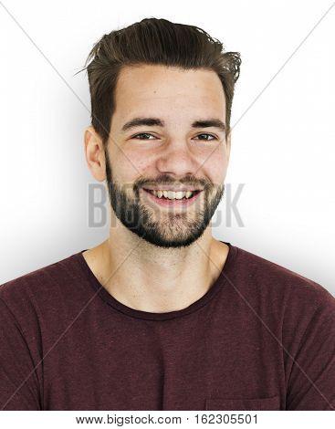 Adult Man Nutural Confident Portrait Concept