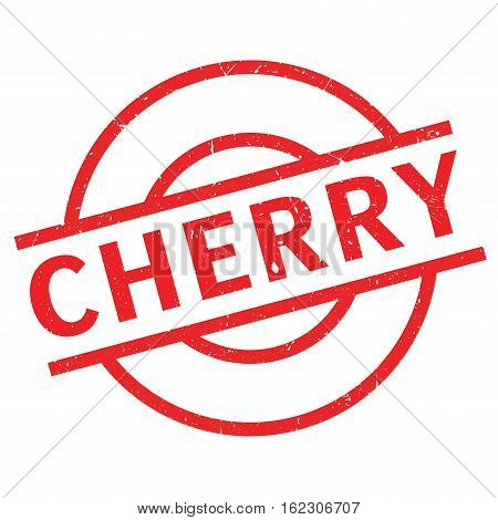 Cherry rubber stamp. Grunge design with dust scratches. Effects can be easily removed for a clean, crisp look. Color is easily changed.