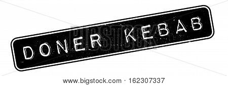 Doner Kebab rubber stamp. Grunge design with dust scratches. Effects can be easily removed for a clean, crisp look. Color is easily changed.