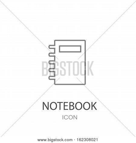 Organizer icon vector. Flat style object. Vector illustration
