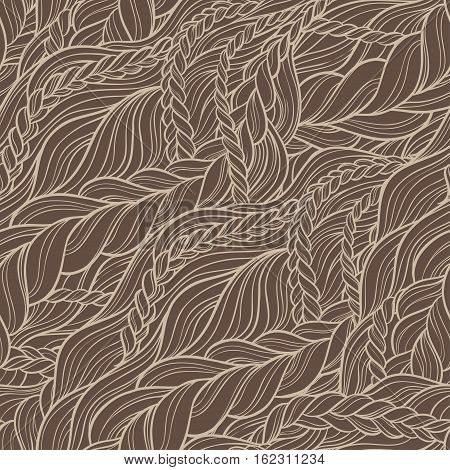 braid hair seamless pattern background