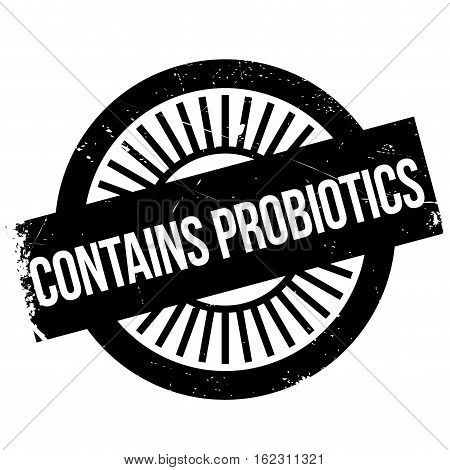 Contains probiotics stamp. Grunge design with dust scratches. Effects can be easily removed for a clean, crisp look. Color is easily changed.