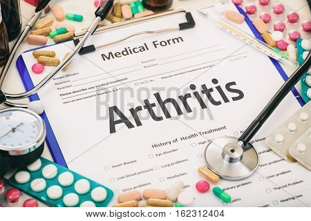 Medical Form, Diagnosis Arthritis