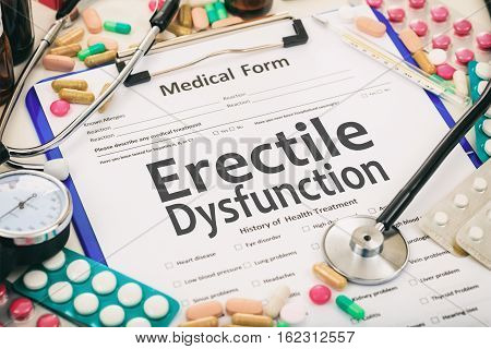 Medical Form, Diagnosis Erectile Dysfunction