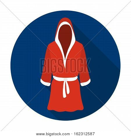 Boxing robe icon in flat style isolated on white background. Boxing symbol vector illustration.