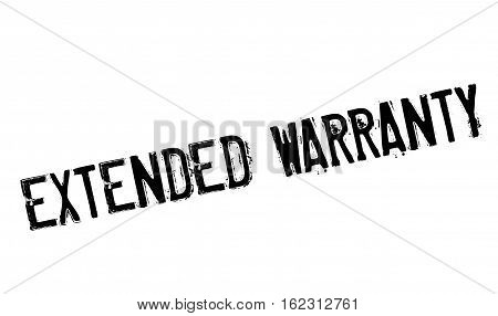 Extended warranty stamp. Grunge design with dust scratches. Effects can be easily removed for a clean, crisp look. Color is easily changed.
