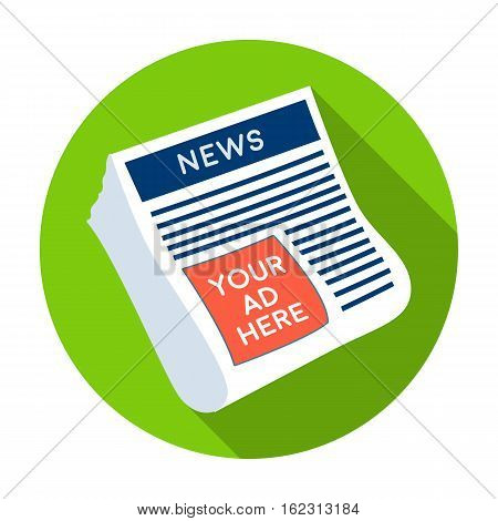 Classified ads in newspaper icon in flat style isolated on white background. Advertising symbol vector illustration.