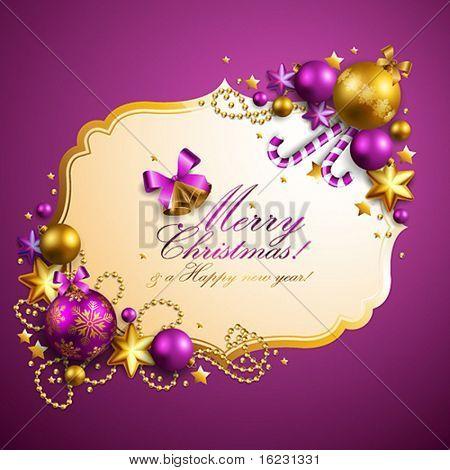 beautiful purple christmas background