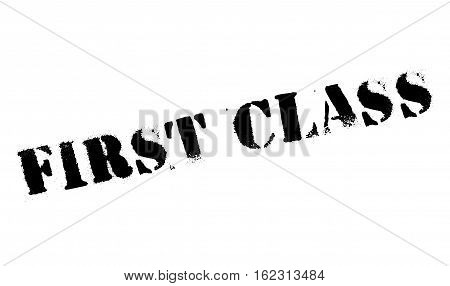 First class stamp. Grunge design with dust scratches. Effects can be easily removed for a clean, crisp look. Color is easily changed.