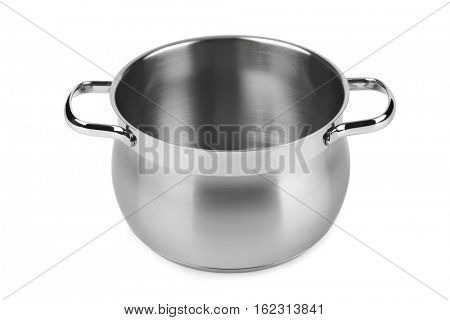 Steel pan isolated on white background