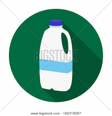 Gallon plastic milk bottle icon in flat style isolated on white background. Milk product and sweet symbol vector illustration.