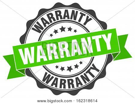warranty. stamp. sign. seal. round. retro. ribbon