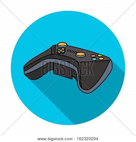 Game controller for the virtual reality icon in flat style isolated on white background. Virtual reality symbol vector illustration.