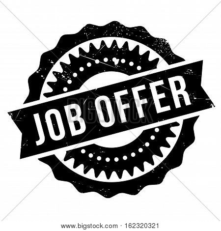 Job offer stamp. Grunge design with dust scratches. Effects can be easily removed for a clean, crisp look. Color is easily changed.