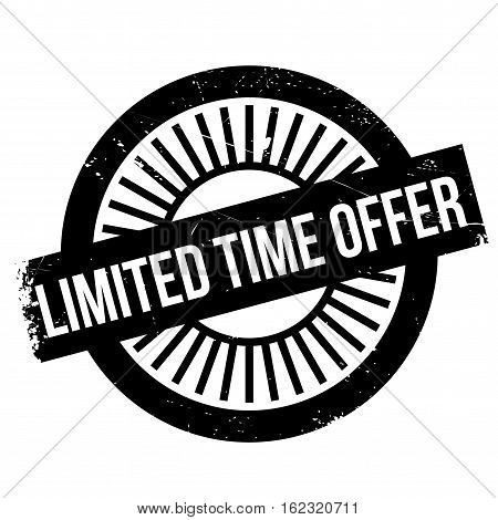 Limited time offer stamp. Grunge design with dust scratches. Effects can be easily removed for a clean, crisp look. Color is easily changed.