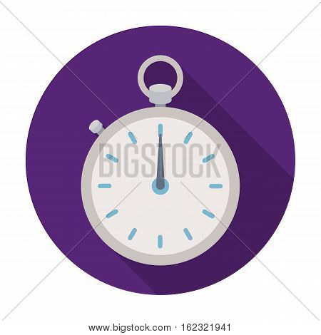 Boxing stopwatch icon in flat style isolated on white background. Boxing symbol vector illustration.