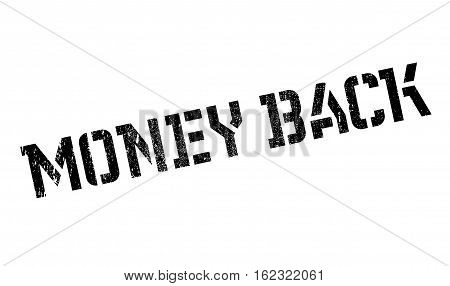Money back stamp. Grunge design with dust scratches. Effects can be easily removed for a clean, crisp look. Color is easily changed.
