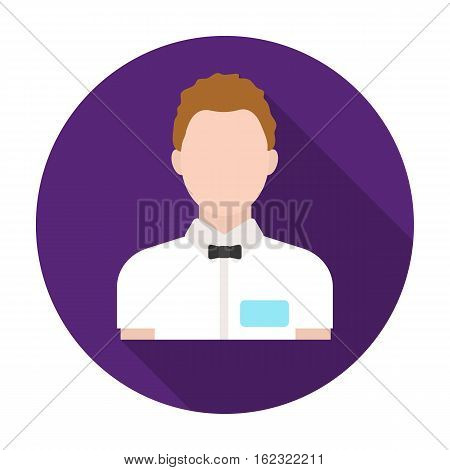 Boxing referee icon in flat style isolated on white background. Boxing symbol vector illustration.