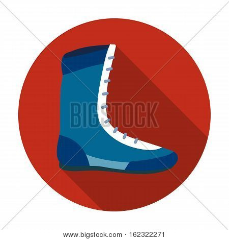 Boxing shoes icon in flat style isolated on white background. Boxing symbol vector illustration.