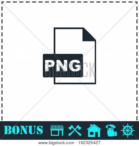 PNG file icon flat. Simple vector symbol and bonus icon