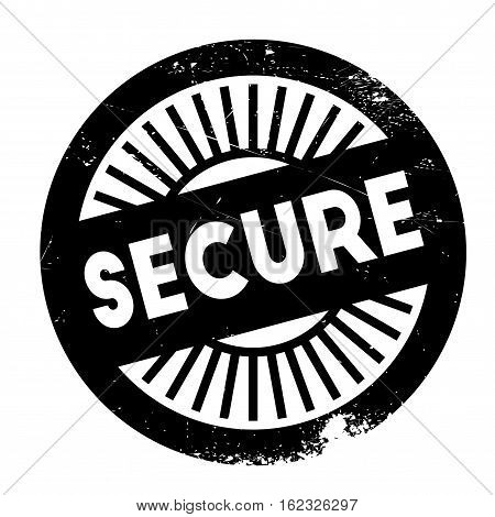 Secure stamp. Grunge design with dust scratches. Effects can be easily removed for a clean, crisp look. Color is easily changed.