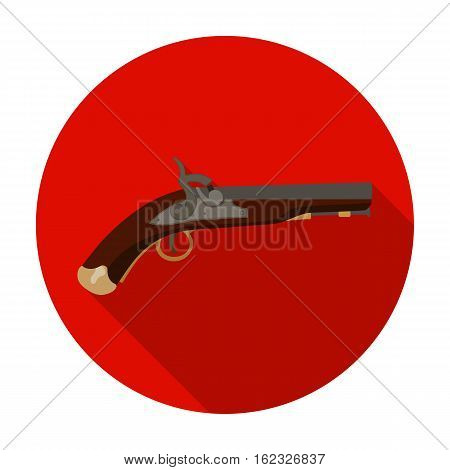 Pistol icon in flat style isolated on white background. England country symbol vector illustration.