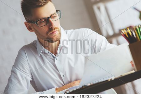 Attractive Man With Document