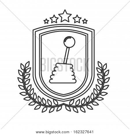 Stick icon. Car automobile transportation and vehicle theme. Isolated design. Vector illustration