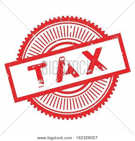 Tax stamp. Grunge design with dust scratches. Effects can be easily removed for a clean, crisp look. Color is easily changed.