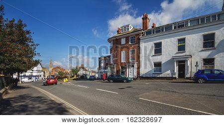 EXMOUTH UK 21 October 2016: Beacon street Beacon hill. Exmouth. Devon. UK