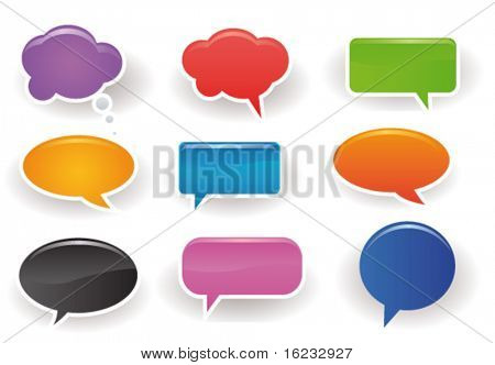 Speech bubbles poster