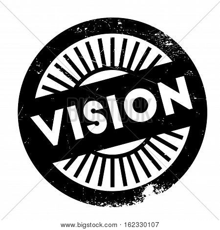 Vision stamp. Grunge design with dust scratches. Effects can be easily removed for a clean, crisp look. Color is easily changed.