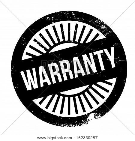 Warranty stamp. Grunge design with dust scratches. Effects can be easily removed for a clean, crisp look. Color is easily changed.
